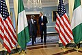 U.S. Secretary of State John Kerry meets with Nigerian Foreign Minister Olugbenga Ashiru at the U.S. Department of State in Washington, D.C., on April 25, 2013.jpg