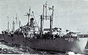 USS Mercury (AK-42) - Image: USS Mercury (AKS 20)