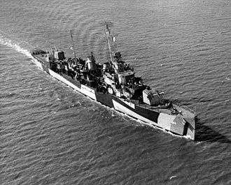 Porter-class destroyer - Image: USS Phelps (DD 360) underway, circa in November 1944 (19 N 73964)