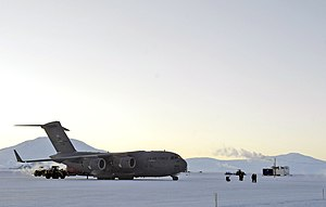 313th Airlift Squadron - C-17 Globemaster III from McChord AFB during Operation Deep Freeze