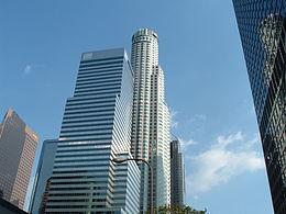 U.S. Bank Tower vista da Figueroa Street.