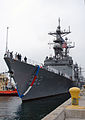 US Navy 040603-N-4304S-005 The destroyer USS Fletcher (DD 992) returns to Naval Station San Diego Calif., after completing a six-month counter drug deployment.jpg