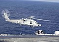 US Navy 040811-N-1229B-018 An SH-60F assigned to the Light Helicopter Anti-Submarine Four Seven (HSL-47), takes off from the aircraft carrier USS Abraham Lincoln (CVN 72).jpg