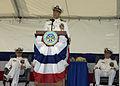 US Navy 050722-N-0246T-055 Capt. Gerard L. Becker, addresses Sailors and guests of Naval Station Norfolk change of command ceremony.jpg