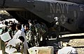 US Navy 051021-F-9085B-053 Pakistani soldiers unload disaster relief supplies from a U.S. Navy MH-53 Sea Dragon helicopter at Balakot, Pakistan.jpg