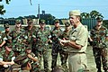 US Navy 060829-N-5758H-128 Chief of Naval Operations (CNO) Adm. Mike Mullen talks with Sailors during a visit to Riverine Group One (RIVRON-1) and Riverine Squadron One on board Naval Amphibious Base Little Creek.jpg
