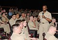 US Navy 090422-N-3666S-021 Rear Adm. Arthur Johnson, commander, Naval Safety Center, speaks with officers and chief petty officers assigned to various commands in the Hawaii.jpg