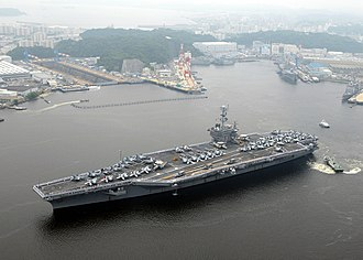 United States Fleet Activities Yokosuka - The U.S. Navy base at Yokosuka, with USS George Washington (CVN-73)