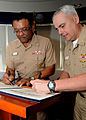 US Navy 100216-N-2259P-001 Vice Adm. D. C. Curtis and Rear Adm. Michael J. Lyden sign a Navy Enterprise Performance Based Agreement at Naval Surface Forces Headquarters.jpg