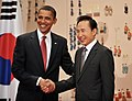 US President Barack Obama visiting Korea in November 2009 (4347676321).jpg