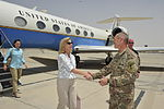 US Under Secretary of Defense Christine Wormuth visits to TAAC-S to discuss Resolute Support progress 150701-N-SQ656-178.jpg