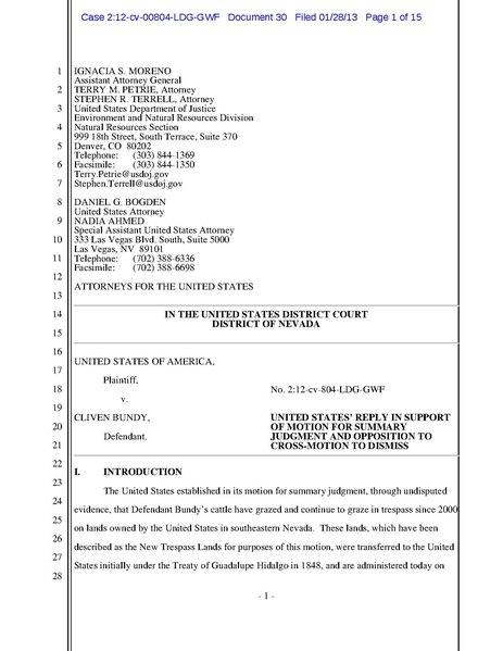 Fileus V Bundy 12cv00804 Reply To Opposition To Plaintiffs