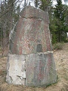 Uppland Runic Inscription 1146 Viking Age memorial runestone in Gillberga, which, Uppsala County, Sweden