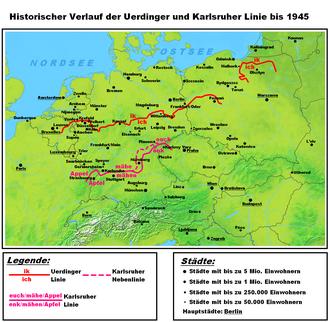 German dialects - Image: Uerdinger und Karlsruher Linie