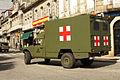 Un Nissan Patrol y un Uro VAMTAC ambulancia de la BRILAT (15446137091).jpg
