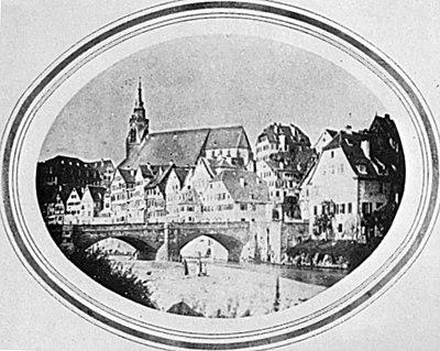 Unbekannter Fotograf Neckarbrücke und Neckarfront Salzpapierabzug um 1858.jpg