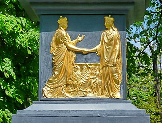 Polonia (personification) - Image: Union in lublin