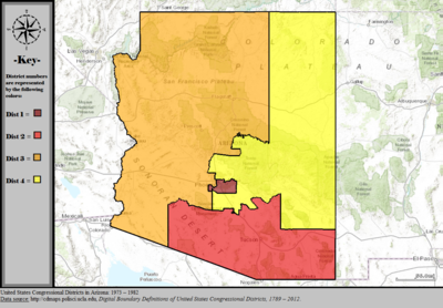 Map Of Arizona Voting Districts.Arizona S Congressional Districts Wikipedia