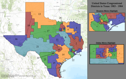 United States Congressional Districts in Texas, 1983–1984.tif