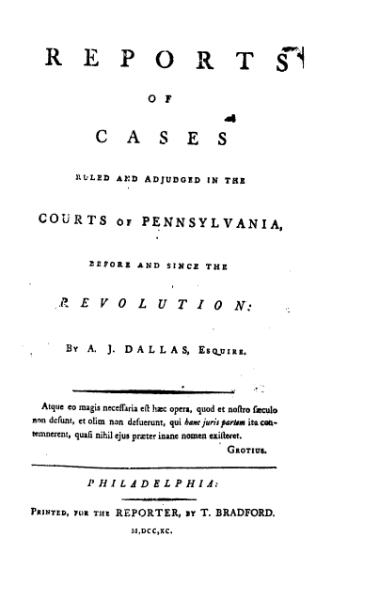 File:United States Reports, Volume 1.djvu
