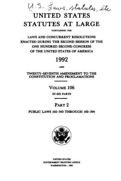 File:United States Statutes at Large Volume 106 Part 2.djvu