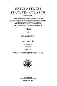 United States Statutes at Large Volume 110 Part 4.djvu