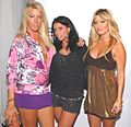 Unknown, Stella Glatt and Niki Ghazian at 2007 Hollywood Cure for Pain Benefit 4.jpg