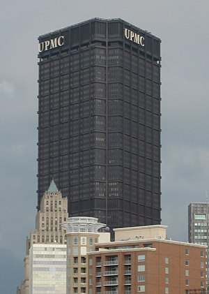 University of Pittsburgh Medical Center - The administrative headquarters for UPMC are located at the top of the U.S. Steel Tower, Pittsburgh's tallest building