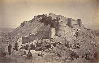 Bala Hissar, Kabul Fortress in Kabul, Afghanistan