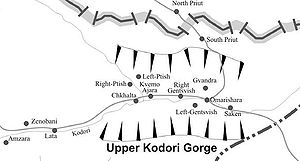 Upper Abkhazia - Upper Kodori Gorge and its settlements