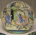 Urbino, francesco xanto avelli, piatto con calano sulla pira, 1532.JPG