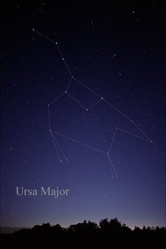 Ursa Major - The constellation Ursa Major as it can be seen by the unaided eye.