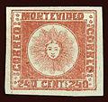 Uruguay 1858 'Soles de Montevideo or Soles Doble Cifra'.jpg