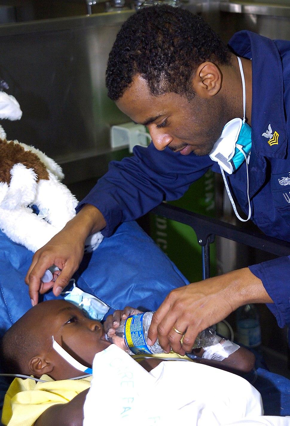 Usns comfort patient haiti jan22