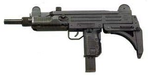 Defense industry of Israel - The Israeli-designed Uzi submachine gun, adopted in many nations, became a major Israeli export success.