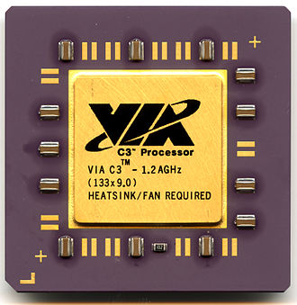 Socket 370 - A VIA C3 1.2 GHz Nehemiah C5XL CPGA socket-370 microprocessor