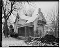 VIEW OF EAST SIDE AND NORTH REAR - Conrad Fox, Jr. House, 3500 Rapids Court, Mount Pleasant, Racine County, WI HABS WIS,51-MTPLE,1-4.tif