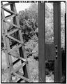 VIEW OF VERTICAL POST AND DIAGONAL BRACING - Bridge No. 18, Spanning Kickapoo River, La Farge, Vernon County, WI HAER WIS,62-LAFA.V,1-5.tif