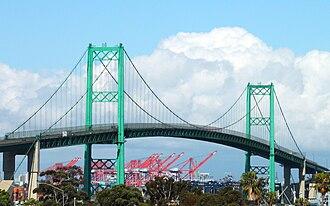 Vincent Thomas Bridge - The Vincent Thomas Bridge in 2009