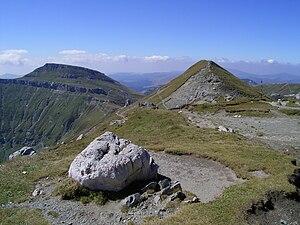 Bucura Dumbravă - Bucura Dumbravă Peak, pictured on the right