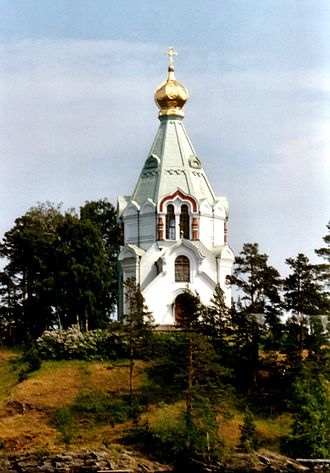 Valaam - Church of the St. Nicholas Skete at the mouth of the Monastery Bay, Valaam