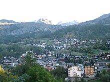 Vista di Pâquier (il capoluogo) e dei villaggi limitrofi