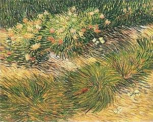 Butterflies (Van Gogh series) - Image: Van Gogh Rasenstück mit Schmetterlingen