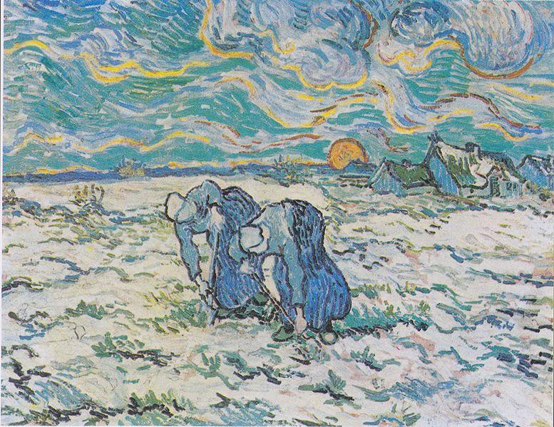 File:Van Gogh - Zwei grabende Bäuerinnen auf schneebedecktem Feld.jpeg