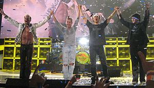 Van Halen - Current line-up: David Lee Roth, Eddie Van Halen, Alex Van Halen and Wolfgang Van Halen