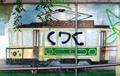 Vandalized mural of tram 24.png