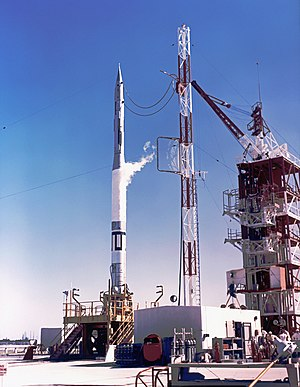 Vanguard SLV-2 - Vanguard rocket on LC-18A prior to its launch