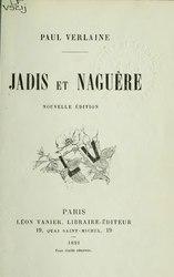 Paul Verlaine: Jadis et Naguère