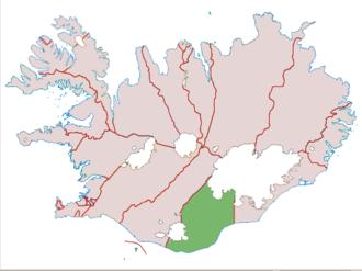 Vestur-Skaftafellssýsla - Image: Vestur Skaftafellssysla