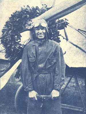 Karel Janoušek - Alois Vicherek as a record-breaking pilot in 1928